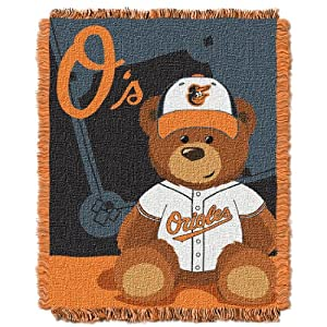 MLB Baltimore Orioles Field Woven Jacquard Baby Throw Blanket, 36x46-Inch by Northwest
