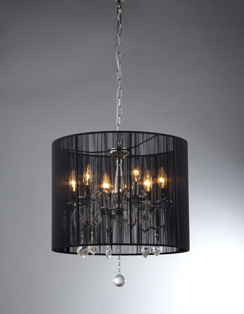 цены Sylvia 6-light Chrome Crystal Chandelier