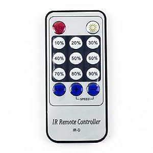 Control remoto regulador IR LED SUPERNIGHT 12V 6A 12 con interruptor de llave para 5050 3528 5630, color único, flexible.