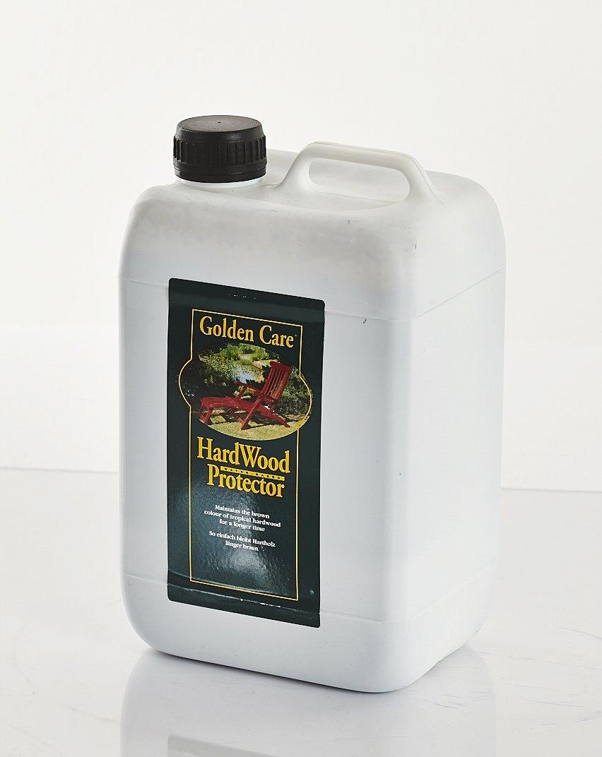 GOLDEN CARE Hardwood Protector 3 Liter pflegt Hartholz z.B. Eukalyptus und Akazienholz oder auch Teak Holzschutz Holzpflege für Gartenmöbel günstig