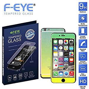 F-EYE® Tempered Glass iPhone 6 plus, 6D Rainbow Colour, Front +Back Screen Protector, HD, Unique Method, Reduce Fingerprint, Anti-oil, Bubble Free Retina and HD Super compatible and high quality Ultra Slim & smooth touch, Thickness, High crystal clarity- explosion proof- anti scratch- protective glass 9H hardness, Easy To Install in your device(Apple iPhone 6 Plus)