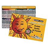 Sakura Cray-Pas Junior Artist Oil Pastels, Assorted Colors, Set of 50