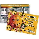 Sakura XEP50 50-Piece Cray-Pas Junior Artist Assorted Color Oil Pastel Set