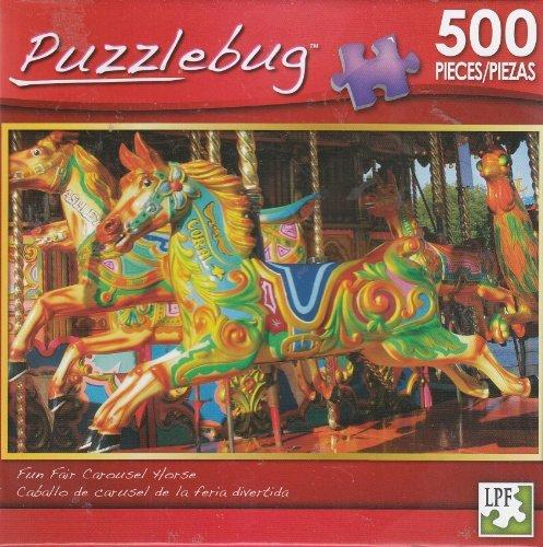 Puzzlebug 500 - Fun Fair Carousel Horse - 1