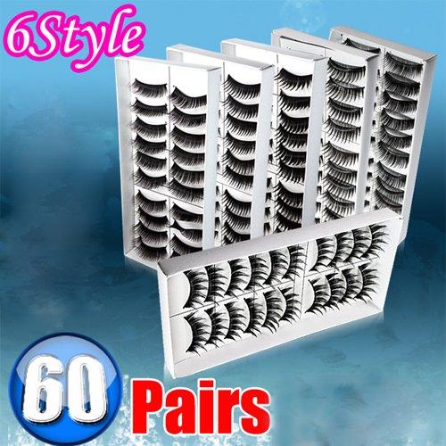 Фото IRISMARU 60 Pairs 6 Style False Eye Lash Eyelashes