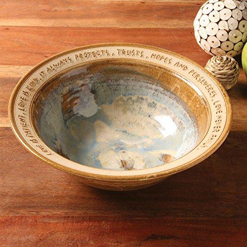Love Is Patient Artist-Made Stoneware Wedding Bowl