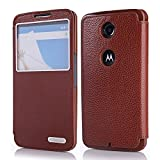 Arbalest Google Nexus 6 Case , [Genuine Leather] Premium Protective [Stand Feature] GENUINE Leather Flip Folio...