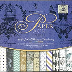 Craftdev Set Of 24 Thick Beautiful Pattern Design Printed Papers12 X 12 Inch - 12 Designs