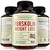 45 DAY SUPPLY - 100% Pure Forskolin Extract for Extreme Weight Loss - Non-Gmo, Gluten Free, 100% All Natural & Vegetarian Supplement - Best Diet Pills That Work Fast for Women and Men - 500mg Per Day (250mg Coleus Forskohlii Root Extract Standardized At 20% Per Pill As Recommended By the Experts). Effective High Grade Brand - Appetite Suppressant, Metabolism Booster, Fat Burner & Carb Blocker - Ultra Extra Strength Belly Buster - 90 Veggie Capsules. Made in the USA