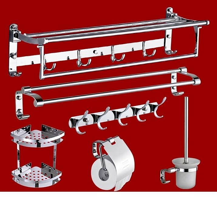 In acciaio inox Accessori da bagno set/Asciugamano/Asciugamano/Polo singolo doppio stelo rack-K