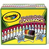 Crayola 58-8208 Crayola Washable Classpack Markers, Conical Point, 8 Assorted Colors, 192/Pack
