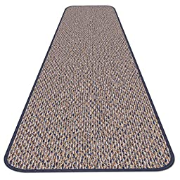 Skid-resistant Carpet Runner - Denim Blue - 4 Ft. X 27 In. - Many Other Sizes to Choose From