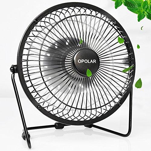 Small Aluminum Fan Blades : Opolar f desktop usb fan with upgraded inch blades