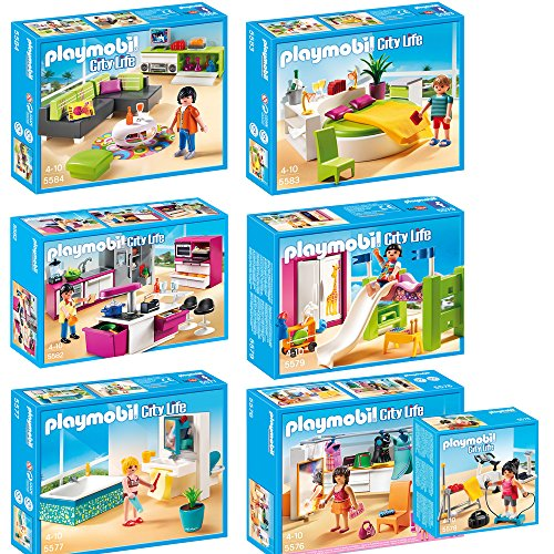 Playmobil city life 7 teiliges set 5576 ankleidezimmer 5577