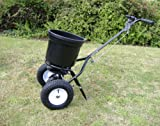 Handy 50lb Wheeled Push Lawn and Fertiliser Spreader