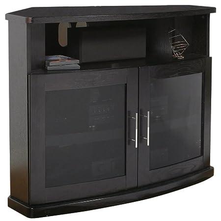 Flat Screen TV Cabinet Black Oak
