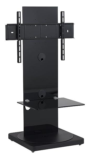 Gisan FS-101 NE Standfuß fur TV Geräte mit einer Bildschirmdiagonalesn von 61cm (24 Zoll) bis 165 cm (65 Zoll), schwenkbar (+/-15°), höhenverstellbar (915 bis 965mm), Traglast max. 35kg, VESA max. 600x400, schwarz