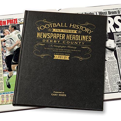 Personalizzato Derby County Calcio giornale in pelle, colore: nero