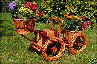 Traktor aus Korbgeflecht-Bepflanzen mögl...
