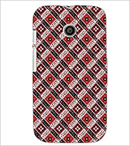 PrintDhaba Pattern D-5474 Back Case Cover for MOTOROLA MOTO E (Multi-Coloured)