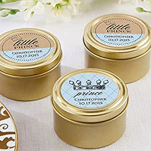 gold round candy tin set of 12 baby shower favors toys games