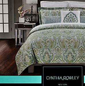 Amazon Cynthia Rowley Cotton King Duvet Quilt Cover