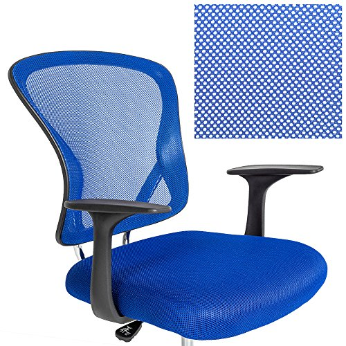 Tectake sedie ufficio poltrona ufficio sedia girevole for Ufficio blu