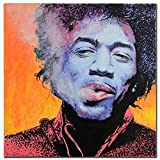 Jimi Hendrix ORIGINAL Painting Signed by Jason Chrisman Purple Haze COA