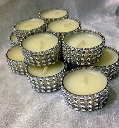 Tealight Silver Bling candles Rhinestone