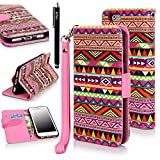 IPhone 6 Case, IPhone 6 Flip Case Cover - E LV Deluxe PU Leather Folio Wallet Case Cover For APPLE IPhone 6 -...