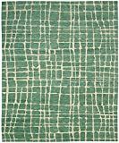 """Nourison Contemporary Rectangle Area Rug 3'9""""x5'9"""" Turquoise Green Tahoe Modern Collection"""