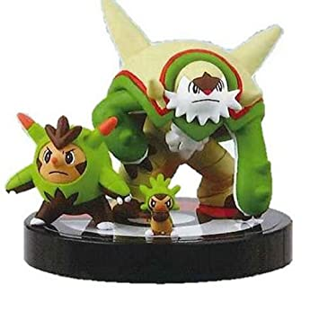 Pokemon Zukan 3D Encyclopedia~Pokemon X Y 02~1/40 Scale Figure Figurine~650 Chespin Harimaron Igamaro Marisson