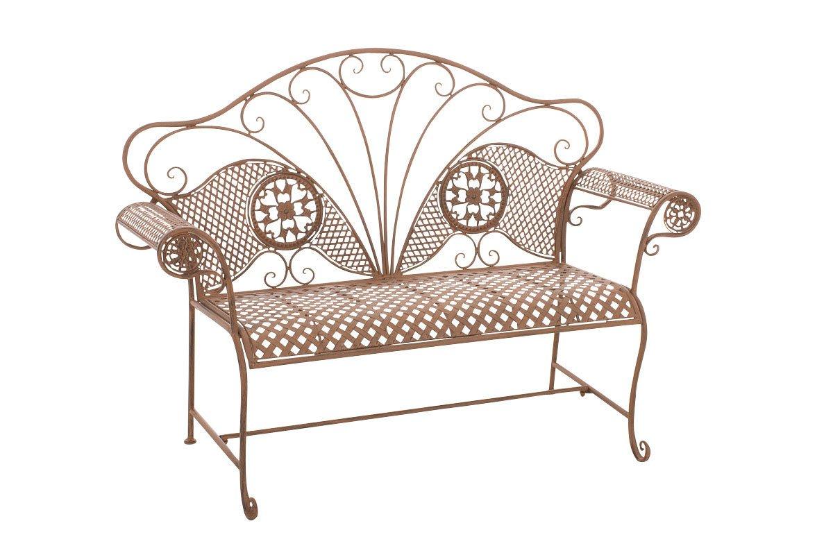 CLP Gartenbank TJURE im Landhausstil, aus lackiertem Eisen, 140 x 58 cm – aus bis zu 6 Farben wählen antik-braun günstig bestellen