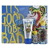 Villain for Men by Ed Hardy Eau de Toilette Spray Natural Spray 75ml , Mini Eau de Toilette 7.5ml, and Shower Gel 90ml