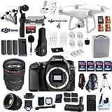 Professional Photographer / Videographer Kit - DJI Phantom 4 + OSMO 4K Starter Kit + Canon 80D DSLR + Canon 24-105mm L USM (Glass Element) Lens + Canon 50mm 1.8 STM Fixed Zoom Video / Portrait Lens