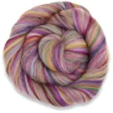 4 oz Paradise Fibers Multi-Colored Merino Wool Roving - Rose Quartz (Color: multicolored, Tamaño: 4 ounces)
