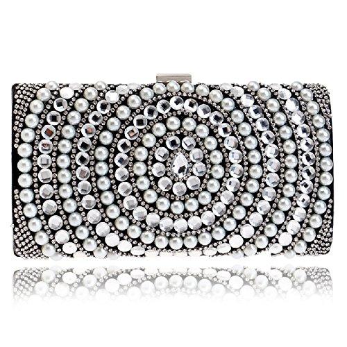 europaische-und-amerikanische-fashion-woman-holding-ein-bankett-fur-pearl-abendtasche-schwarz