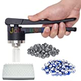 20 mm Flip Off Vial Crimper Manual Sealer + 100 Glass Vials (10 ml) + 100 Rubber Stoppers + 100 Plastic-aluminum Caps