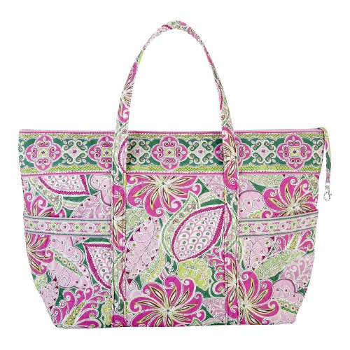 Vera Bradley Super Tote Bag Purse in Pinwheel Pink