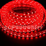 BINZET 5m 5050 SMD 110V-120V Red LED Rope Light IP67 Waterproof Outdoor Decoration Lighting, Christmas LED Lighting, Seasonal LED Lighting, Garden Patio LED Lighting