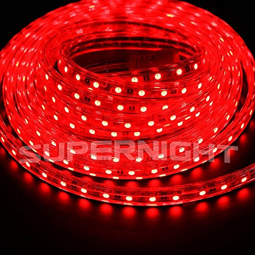 SUPERNIGHT® 2PCS 5M / 16.4ft Red SMD5050 Waterproof