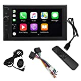 LEADSIGN CT-6200 Double Din Car Stereo Digital Media Receiver with Apple CarPlay,Android Auto,Built-in Bluetooth,6.2