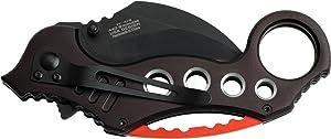 Tac-Force Tactical Pocket Knives Black Blade Tactical Knife (Color: Black)