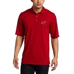 NFL Phoenix Cardinals Mens Drytec Genre Polo Knit Short Sleeve Top, Cardinal Red by Cutter & Buck
