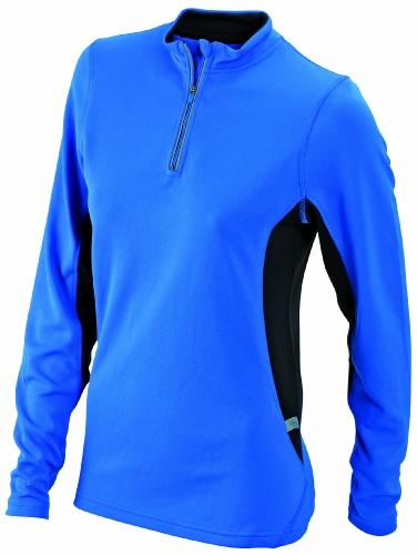 James & Nicholson Women's Running Shirt - M, Blue