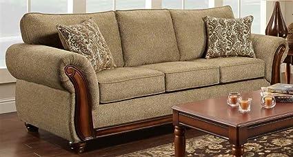 Contemporary Sofa in Hindsight Cocoa Finish
