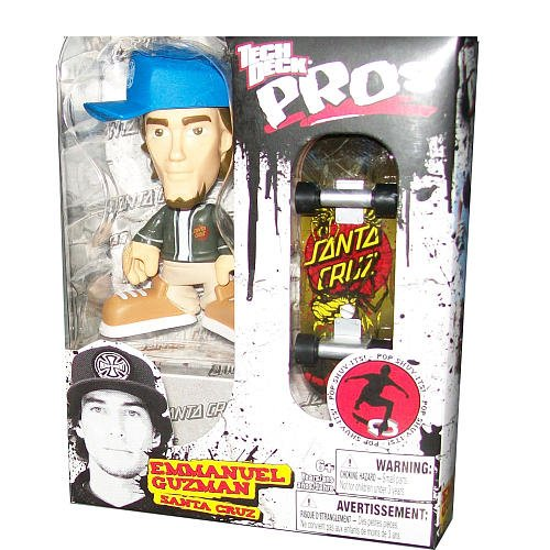 Tech Deck Pro Skater Action Figure with Skateboard - EMMANUEL GUZMAN by Spin Master - 1