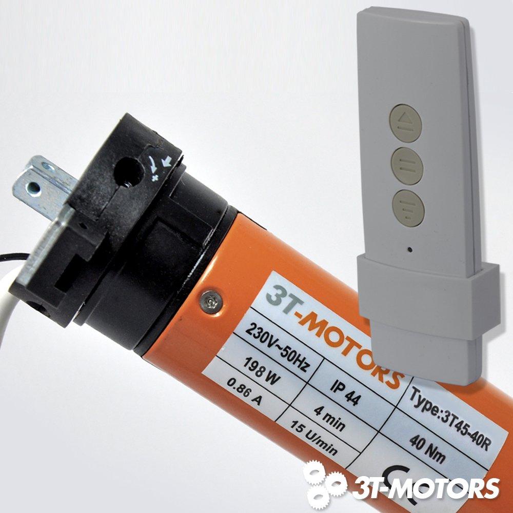 Funk Markisenmotor 40Nm 3TMOTORS Markisenantrieb inkl. Handsender + Adaptersatz für 78mm Rundwelle  BeleuchtungKundenbewertung und weitere Informationen