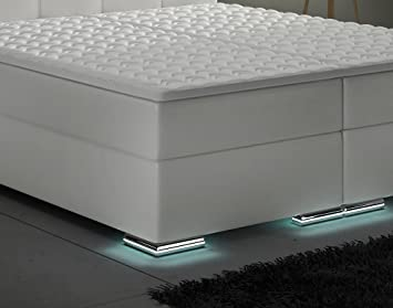 xxl boxspringbett designer boxspring bett led wei. Black Bedroom Furniture Sets. Home Design Ideas