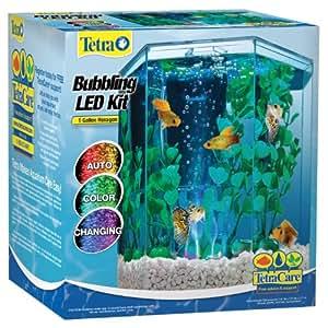 Tetra 29040 hexagon aquarium kit with led for 30 gallon hexagon fish tank